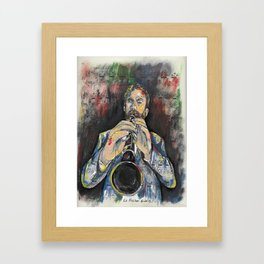 Jazz Clarinet 1 Framed Art Print