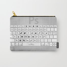 Photoshop Keyboard Shortcuts Brushed Metal  Carry-All Pouch