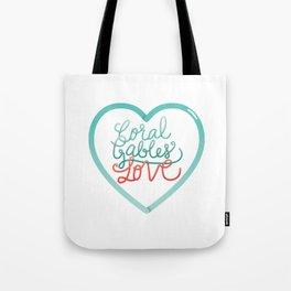 Coral Gables Love Tote Bag