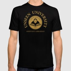 Assistant Librarian Mens Fitted Tee Black MEDIUM