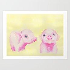 Baby Piglets Art Print