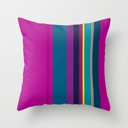 Spring collection - blue - strips Throw Pillow