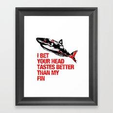 Your head tastes better Framed Art Print