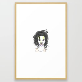 The Rapper-a-Day Project | Day 18: Lauryn Hill Framed Art Print