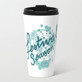 Festival Season Design Teals Travel Mug