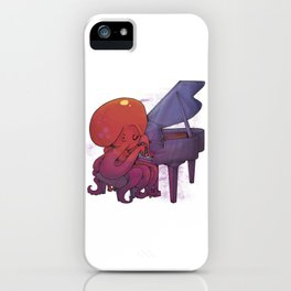 Octopus Playing The Piano iPhone Case
