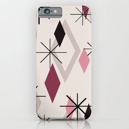 Mid Century Modern Diamonds iPhone Case