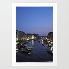 Venice at Twilight  Art Print