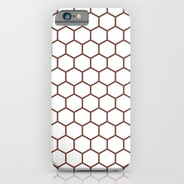Honeycomb (Brown & White Pattern) iPhone Case