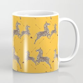 Royal Tenenbaums Zebra Wallpaper - Mustard Yellow Coffee Mug