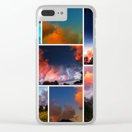 Sunset Collage Clear iPhone Case