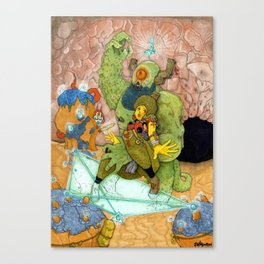 Quick Knight Smoke! Save Ochtlipat from the Cyclops' Teleportamid! Canvas Print