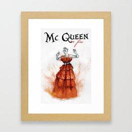 Mc Queen on fire Framed Art Print