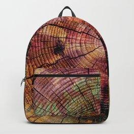Nature Flow - Modern Pastel Alcohol Ink Wood Backpack