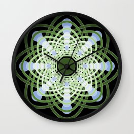 Spheres of Congruence (Black Light Version) Wall Clock