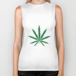 Marijuana. Cannabis leaf  Biker Tank
