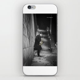The golden saxophone player iPhone Skin