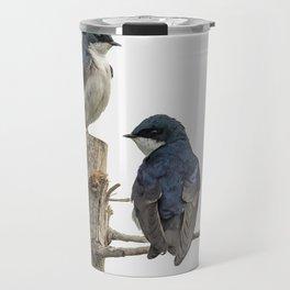 Tree Swallow Times Two Travel Mug