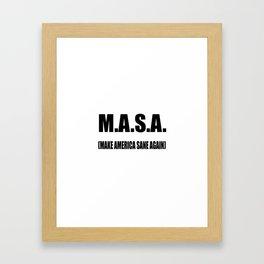 M.A.S.A Framed Art Print