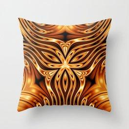 Decorative Gold Inlay Pattern Throw Pillow