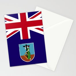 Montserrat flag emblem Stationery Cards