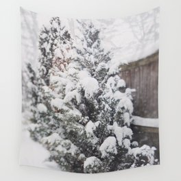 Snowy Day Wall Tapestry