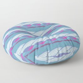 Waves Pattern III Floor Pillow