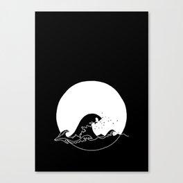Black Wave Canvas Print