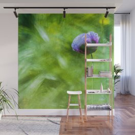 Purple poppy - photo painting Wall Mural