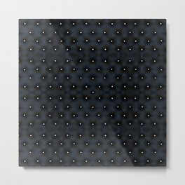 Black Velvet and Diamond Quilted Pattern Metal Print