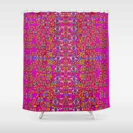 lianas of excotic in florals decorative tropical paradise style Shower Curtain