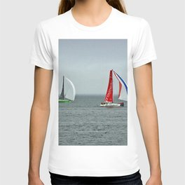 part 4 of 4 of Sailing Battle 42-56  - Transat Quebec St-Malo T-shirt