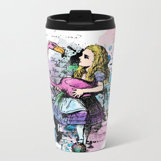 Alice in Wonderland collage Metal Travel Mug