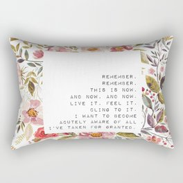 Remember, this is now - S. Plath Collection Rectangular Pillow