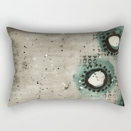 Sepia Circles Right Rectangular Pillow