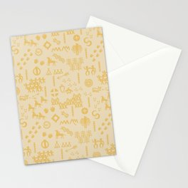 Peoples Story - Gold on Beige Stationery Cards