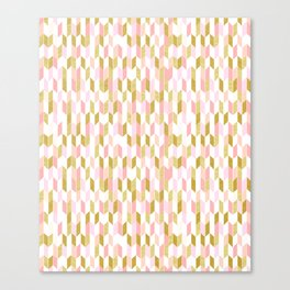 Pink and Gold Arrow Pattern Canvas Print