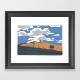 Desert Drive Framed Art Print