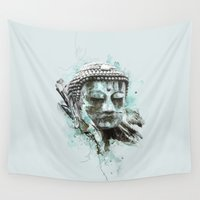 buddha Wall Tapestries featuring Buddha by Kevin Roodhorst