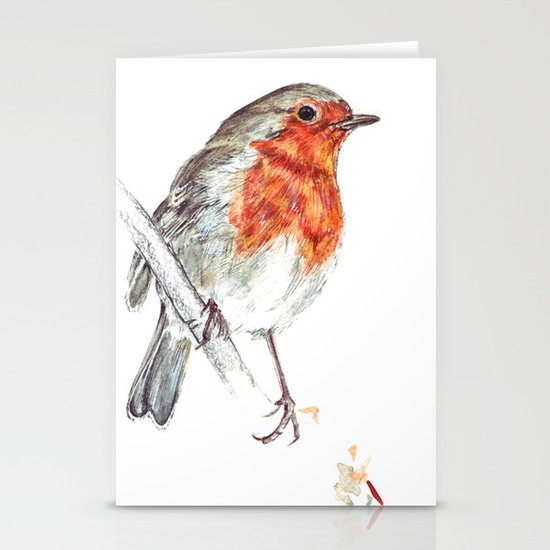 European Robin Stationery Cards