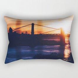 New York bridge Rectangular Pillow