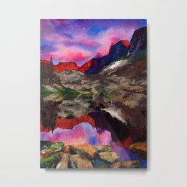 Evening mountains Metal Print