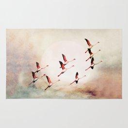 Flock of Flamingos Rug