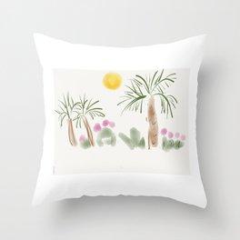 Palm Trees Throw Pillow