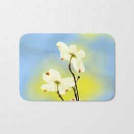 Dogwood Blossoms  Bath Mat