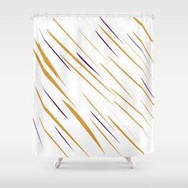 design gold lines Shower Curtain