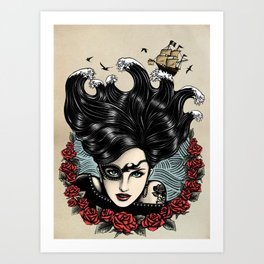Pirate Queen (Color) Art Print