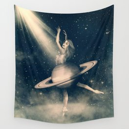 When Saturn Starts Dancing Wall Tapestry