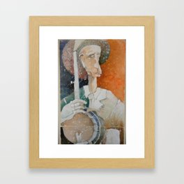 Banjo Player 1 Framed Art Print