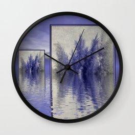 grass over water Wall Clock